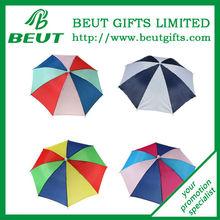 Rainbow Foldable Umbrella Hat Cap Headwear For Outddor Golf Fishing Camping
