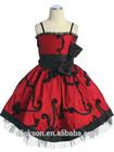 Tasteful Spaghetti Straps Sleeveless Bowsknot Applique Flower Girl Dress Patterns Free