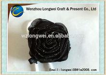 black rose foldable shopping bag/shopping bag plastic bag/folding tote bag
