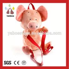 Factory Wholesale Cute Bean Bag Stuffed Toys / Plush Animal Pig Backpack