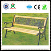 2014 Best selling wrought iron metal garden benches / teak wooden garden benches / outdoor bench seat for sale (QX-146F)