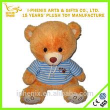 Cute design made in China lovely T-shirt plush bear stuffed child toy plush bear