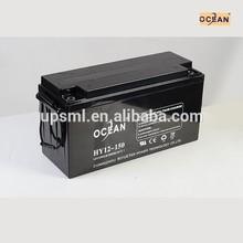 MSDS price 12v 150ah battery for solar