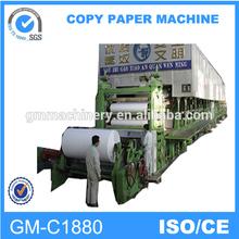 chinese new design 1880mm printing paper machine / office paper machine