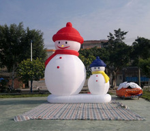 New promotion! Christmas outdoor decor Cute inflatable snowman 6m high durable Oxford model snowman