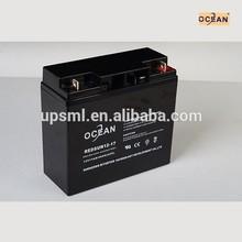 MSDS rechargeable battery 12v 17ah for soalr system