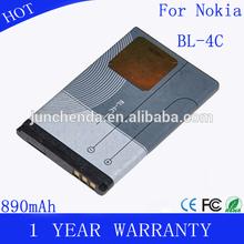Mobile phone battery bl-4c bl 4c for nokia 6300 6136 6102i 6170 6260