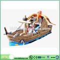 custom inflável do barco pirata com slide para crianças