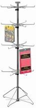 """Floor 4tiers Wire Spinner Spoke Rack Display - 24 - Hooks, 6 - 1/4"""" long."""