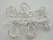 2014 hot selling bear shape white crystal bear claw hair clip