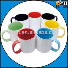 mug for sublimation mugs sublimation, 12oz inner and rim colored polymer mug