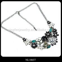 2014 Wholesale Trendy Flower Necklaces Steampunk Party Statement Necklace