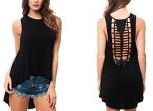 Fashion Ladies Tops Back Laser cut Design 2014 Petite size available