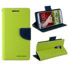 Dual Colors Mercury PU Leather flip mobile phone case for samsung galaxy mega 5.8