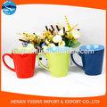 Taza de cerámica vidriada de color diferente, gres esmaltado taza, taza de gres