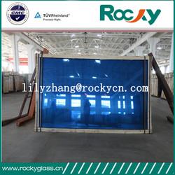China factory 8mm reflective glass price dark blue reflective glass price