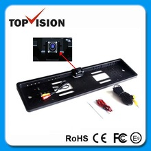 Auto Color 170 degrees EU Car Licence Plate Holder Rear Reverse Camera with Night Vision