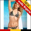 WELLA LINGERIE Golden Flower Print Triangle sexy hot sale triangl swimwear bikini