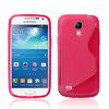 S line Soft TPU Gel Case for Samsung Galaxy S4 mini i9190 hot pink-446