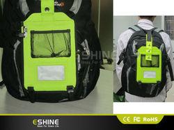 fashion solar bag/solar backpack outpot power is 5V 600mah