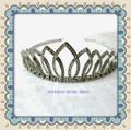 Moda tiara con cristal de piedra para las muchachas