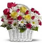 Garden wicker basket for plants