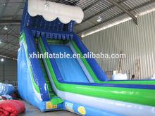 2014 Hot sale commercial inflatable slide long inflatable slip and slide for kids/adult