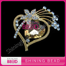 Wholesale High Quality Heart Metal Crystal Phoenix wedding brooches wholesale