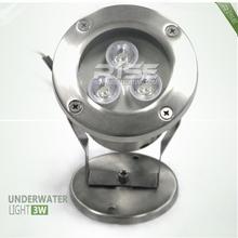 3W dmx led pool light ip68 round for submarine