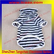 chinese wholesale Striped led flashing Polo t-shirt brand name dog clothing
