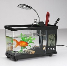 Fancy office gift wholesale aquarium fish tank imported from China