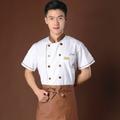 2014 a nova moda branco chef de roupa