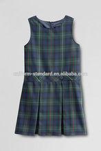 School Uniform factory good quality cotton pinafore dress children