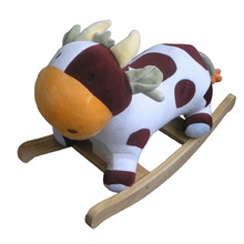 plush rocking toy/plush rocking cow/plush rocking animals