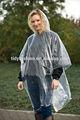 Dames imperméables PE d'urgence Transparent pluie cap