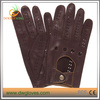 Handsewn lambskin leather driving gloves with contrast welting