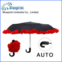 Custom special 3 folding flower Umbrella new product China supplier