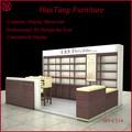 2014 nuovo design personalizzato cosmetici display vetrina, trucco di legno vetrina display per negozi