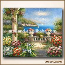 Beautiful garden scenery painting