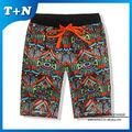 subliamtion personalizado impreso el sudor pantalones cortos de gimnasia de la fabricación de los hombres