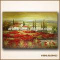 Magnifiques paysages peinture photos de rouge pavot