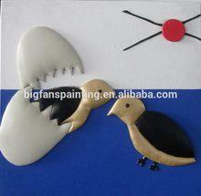 Designer branded bird 3d plastic painting