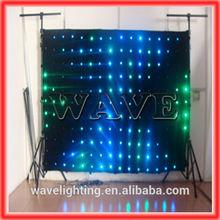 WLK-1P9 Black fireproof Velvet cloth RGB 3 in 1 leds video curtain backdrop nightclub led lighting