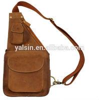 bpr5130 fashion classic man waist chest bag leather menssenger shoulder bag for men