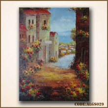 Thick texture wall art flower acrylic painting
