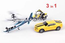 Elicottero del rc 2ch& auto e moto- 3 in 1