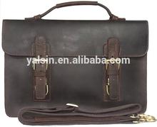 abr5143 designer dark brown man handbag leather briefcase formal office bag