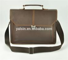 adr5158 designer vintage bag for man zip lock bag genuine leather briefcase bag factory