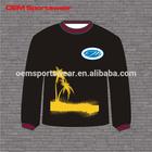Wholesale custom all over non hooded sweatshirt printing