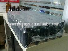0,5 Liter glasflasche mit bernsteinfarben